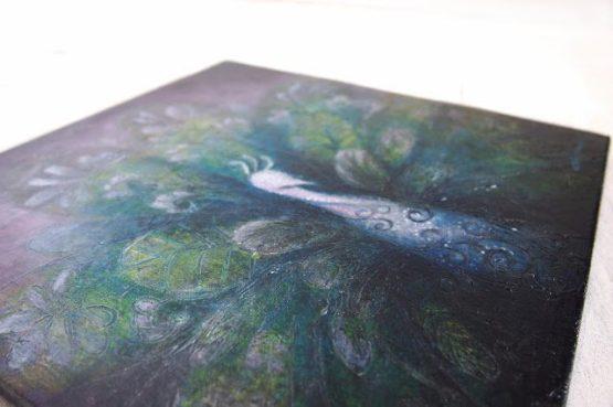 purple-plumage-original-textured-acrylic-painting-chingteoh