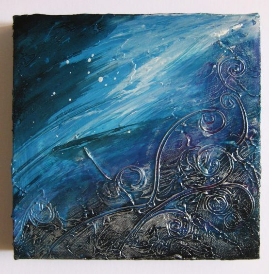 Bombora - Original Abstract Textured Painting on Canvas