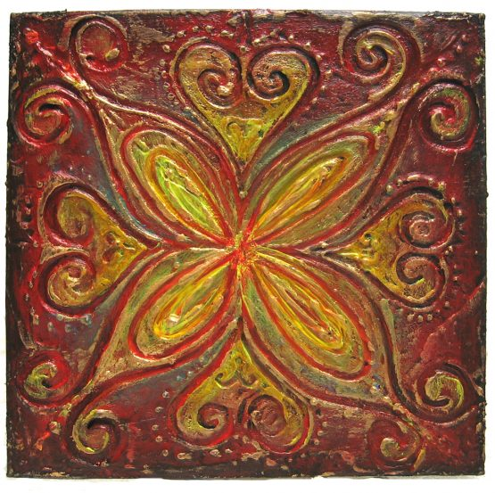 Mar 31 - mini textured art on mat board
