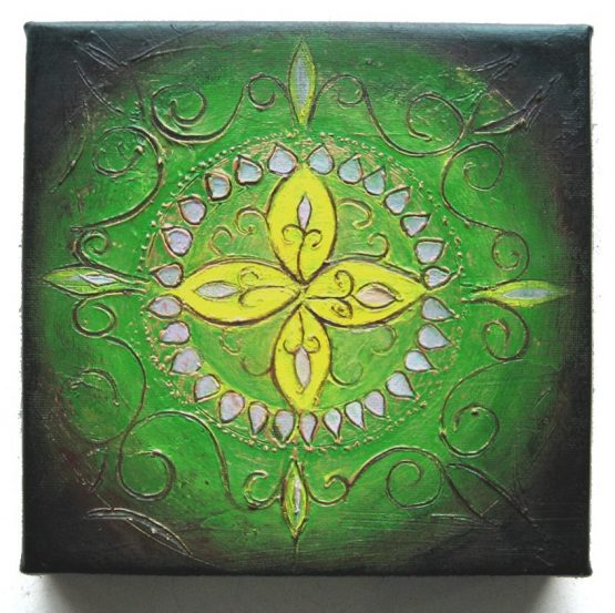 Rangoli IV - Original Abstract Textured Painting on Canvas