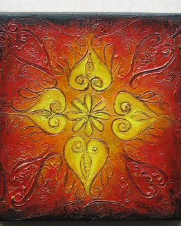 Rangoli V - Original Abstract Textured Painting on Canvas