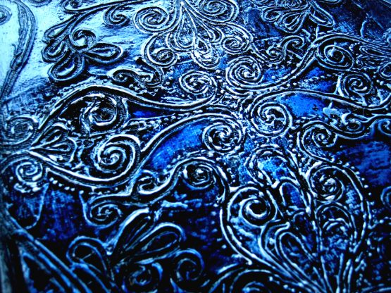 Indigo - Original Abstract Textured Painting on Canvas