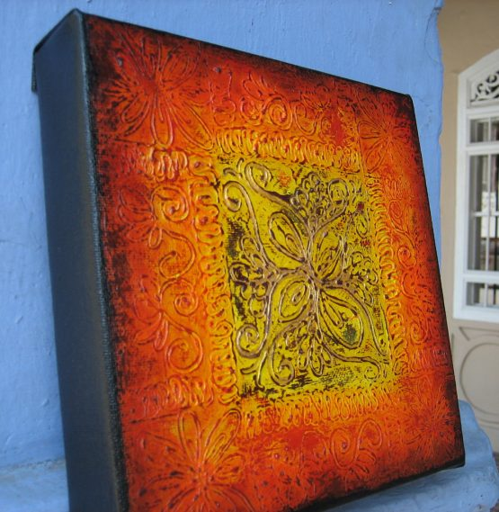 Pencere III - Original Abstract Textured Painting on Canvas