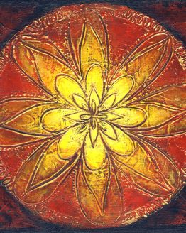 mandala - original textured acrylic painting