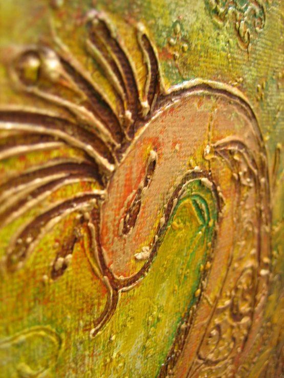 peacock - original textured acrylic painting