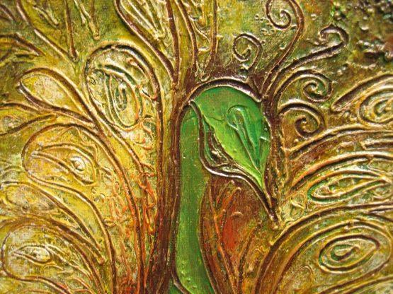 peacock II - original textured acrylic painting