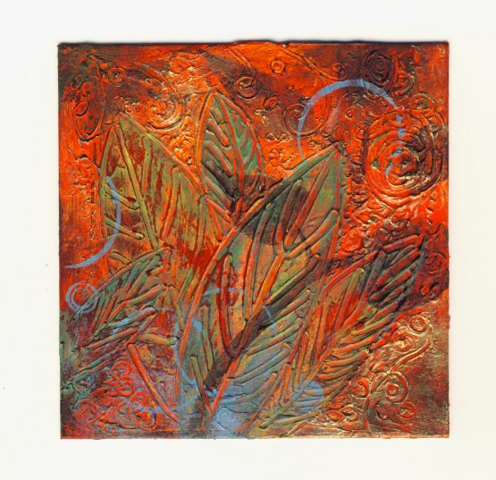 Nature IV - Original Abstract Textured Painting on Recycled Mat Board