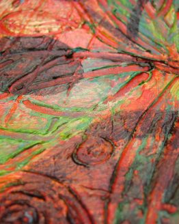 Nature III - Original Abstract Textured Painting on Recycled Mat Board