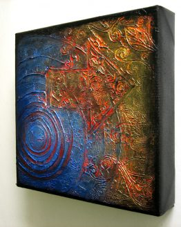 Migration - Original Abstract Textured Painting on Canvas