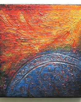 the Wing - Original Abstract Textured Painting on Canvas