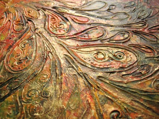 Fly - Original Abstract Textured Painting on Canvas