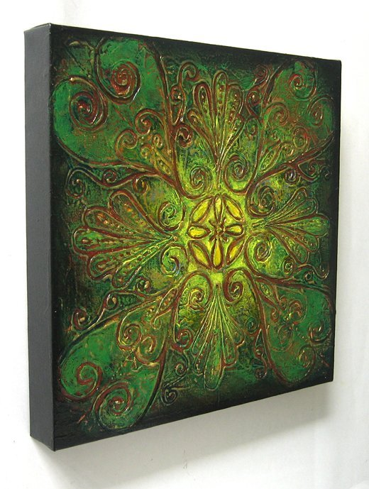 Floral - Original Abstract Textured Painting on Canvas