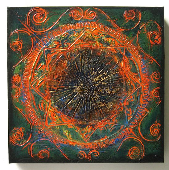 the Past - Original Abstract Textured Painting on Canvas