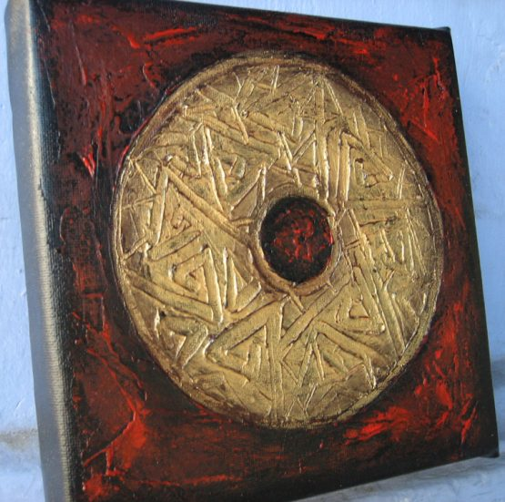 Oriental Sign - Original Abstract Textured Painting on Canvas