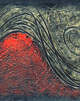Yin Yang - Original Abstract Textured Painting on Canvas