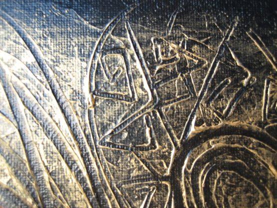 Yin Yang - Original Abstract Textured Painting on Canvas