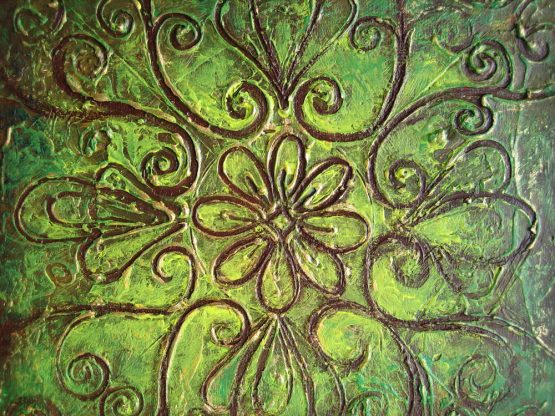 Rangoli I - Original Abstract Textured Painting on Canvas