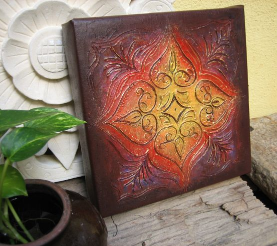 Rangoli II - Original Abstract Textured Painting on Canvas