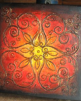 Rangoli III - Original Abstract Textured Painting on Canvas