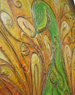 Plumage - Acrylic Original Texture Painting on Canvas