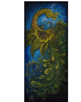 Flair - Peacock Large Surreal Acrylic Original Texture Painting on Canvas