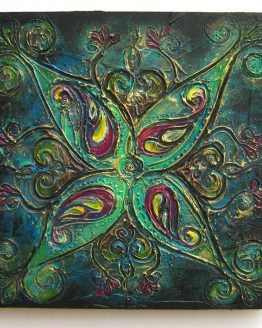 Rangoli VI - Original Abstract Textured Painting on Canvas
