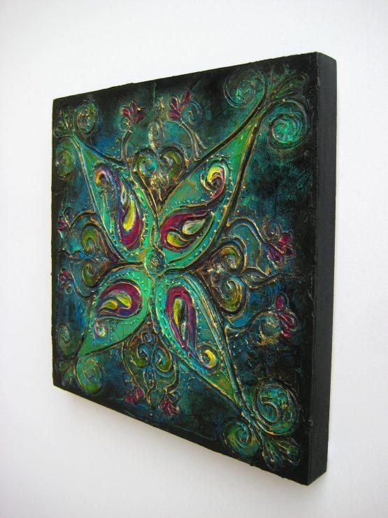 Rangoli VI - Original Abstract Textured Painting on Canvas