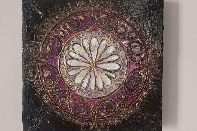 persian - original textured acrylic painting