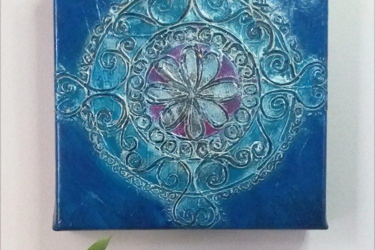 indigo silver mandala iv