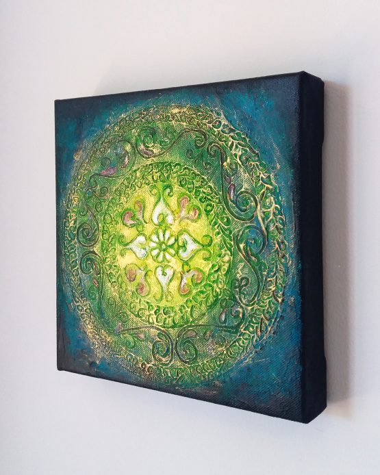 unforgettable - textured acrylic painting